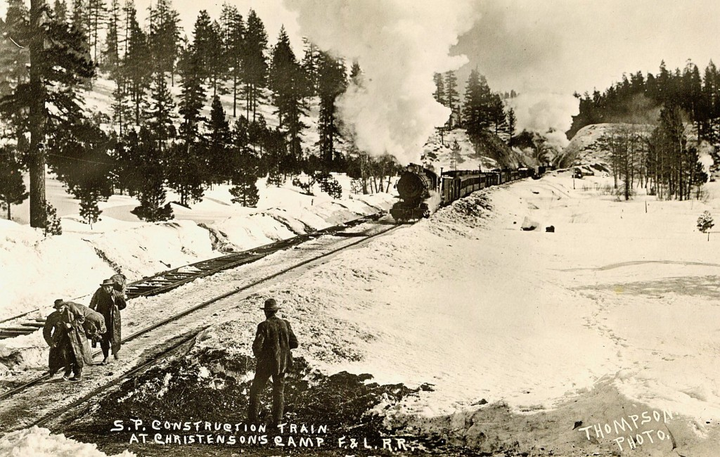Construction train in the Susan River Canyon.