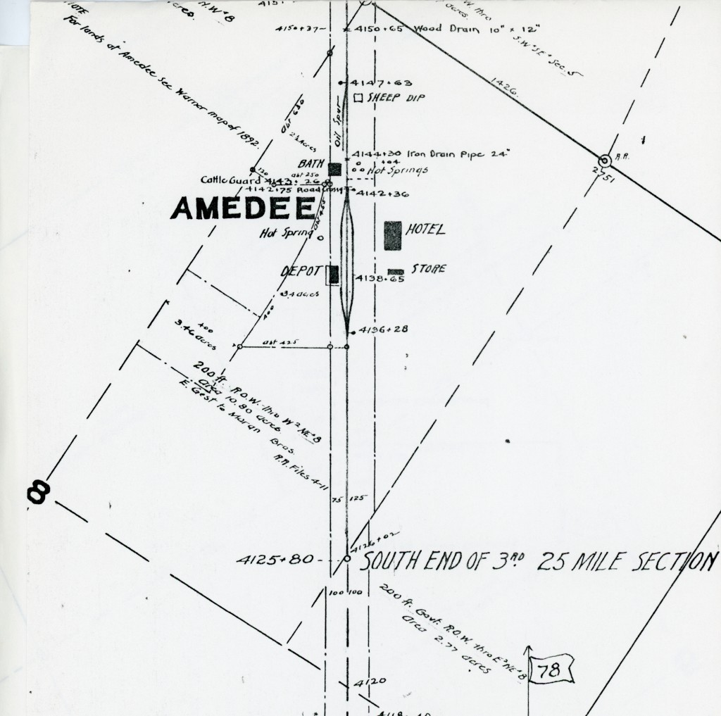 Board of Equalization Assessment Map of Amedee