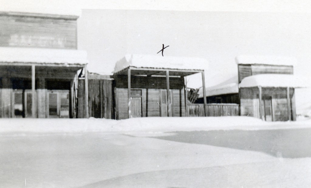 """Amedee, January, 1911. The """"x"""" indicates the town's old dance hall. Courtesy of Madelyn Mapes Dahlstrom"""