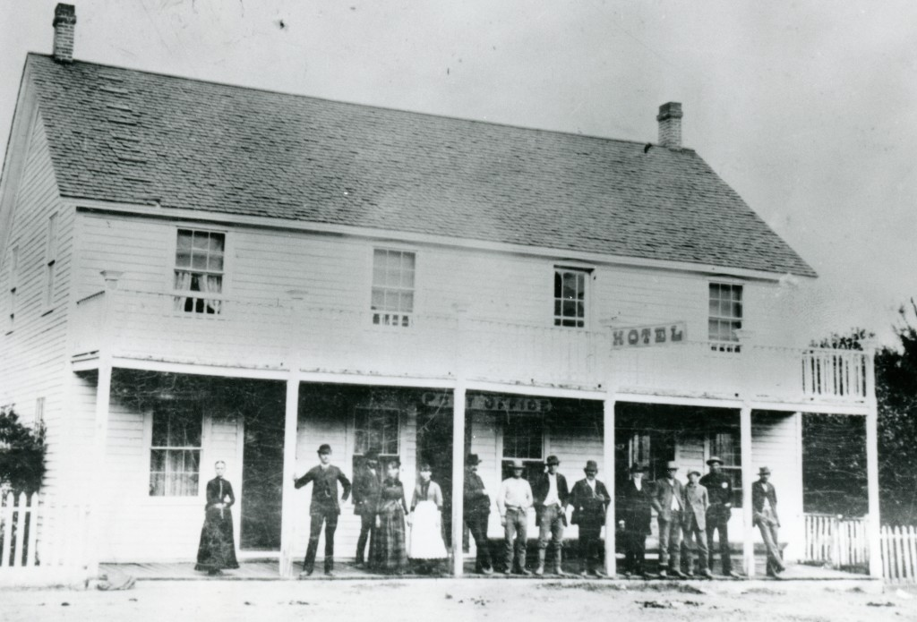 The Janesville Hotel when it was owned by Justus R. Bailey, circa 1880.
