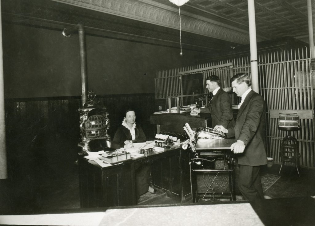 Standish Branch of the Bank of Lassen County inside the Wrede Hotel