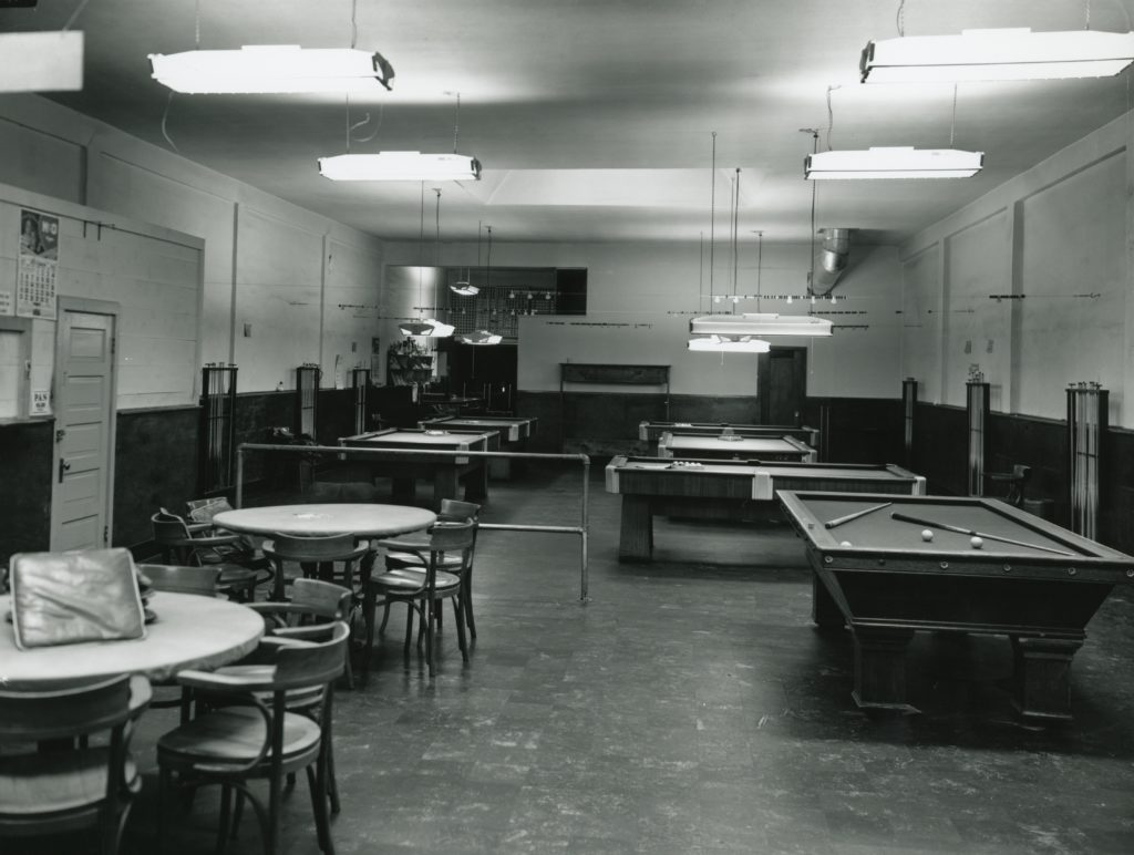 The back room of the Bank Club.