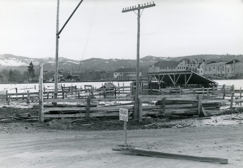 The flooded dairy, April 1938. Courtesy of Betty Barry Deal