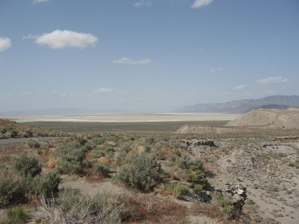 Sand Pass, Washoe County, Nevada, looking north at the Smoke Creek Desert, 2008.