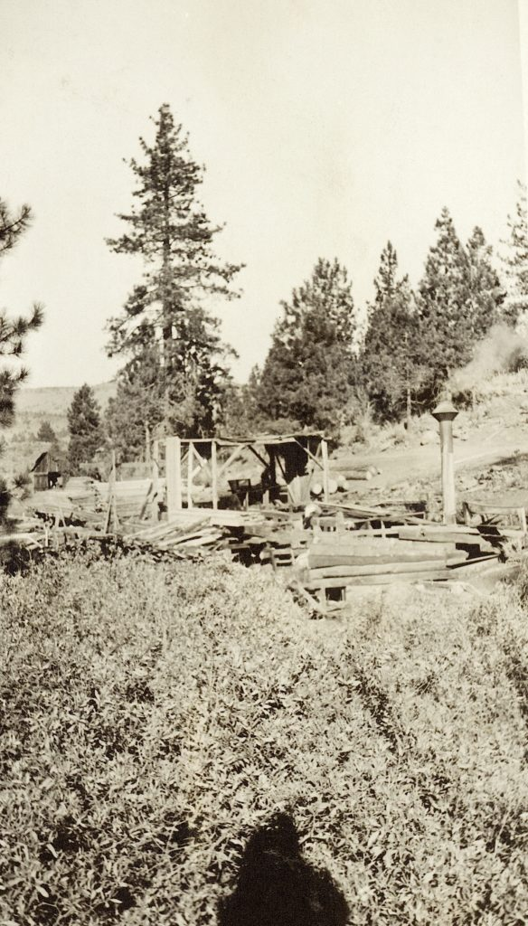 Conklin mill, circa 1918. Courtesy of Lola L. Tanner