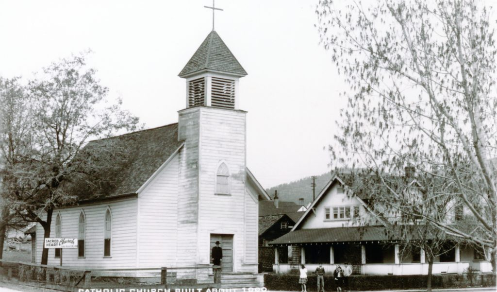 The original Sacred Heart Church.