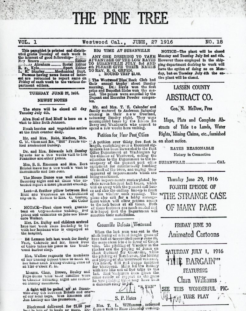 A portion of the front page, and only known copy that was found in the T.B. Walker papers at the Minnesota Historical Society