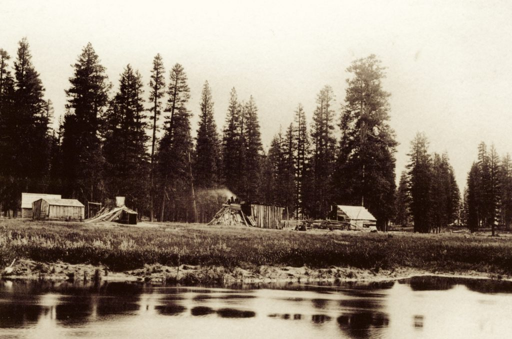 Big Meadows Maidu Camp, 1887. Courtesy of the National Park Service