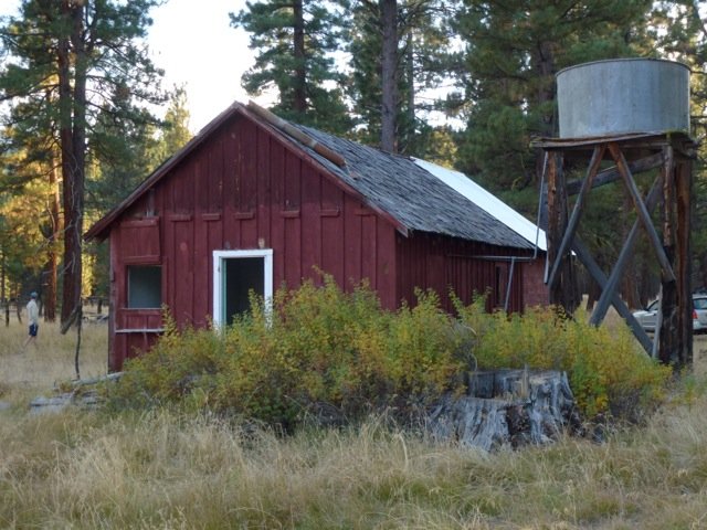 Cabin and water tank at Papoose, 2011.