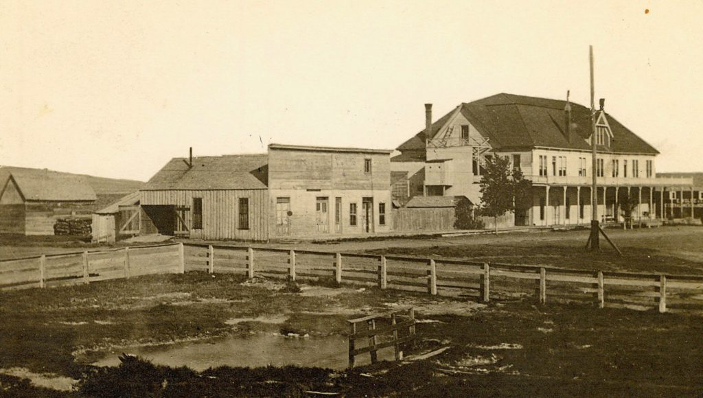 On April 3, 1916, the McKissick Cattle Company purchased the holdings of George Callahan at Amedee, which included the hotel, hot springs and several hundred acres of land. Courtesy of Marie H. Gould.