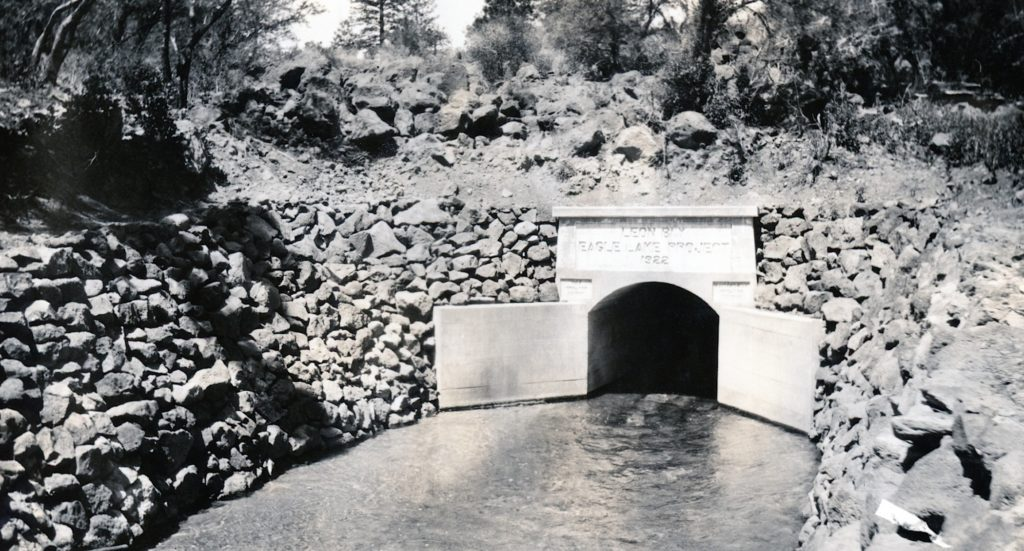 Outlet of the Bly Tunnel, 1924. Courtesy of Lola L. Tanner